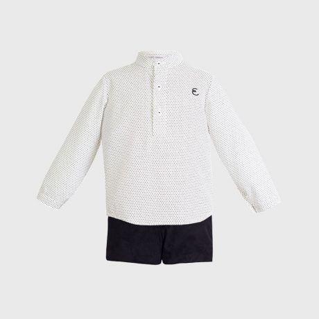 Conjunto Niño Topitos Blanco