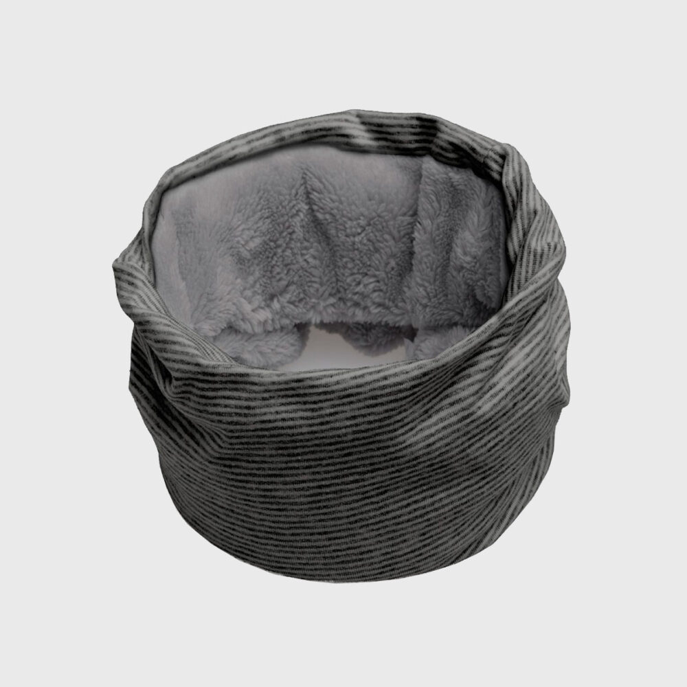 Braga Polar Para Cuello Stripes Gris
