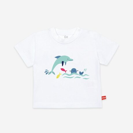 Camiseta Algodón Animals Sea